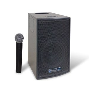 Technical Pro 72-pow600 Technical Pro 8-Inch Battery Powered PA System VHF Microphone