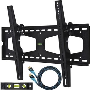 "Cheetah Mounts APTMMB Wall Mount Bracket with Universal Tilt for 32-65"" Flat Panel Plasma, LED, & LCD Displays"