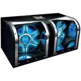 Dual BP1204 Woofer. DUAL 12IN BANDPASS BOX ILLUMINITE AMSPKR. 600W (RMS) / 1100W (PMPO)