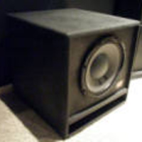 "EMAV TS110PROSW  600 watt 10"" Passive subwoofers provide bass to the new theater.  www.emavloudspeakers.com"