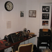 "Inside my nonoperational Radio ""Control Room"""