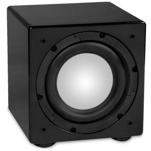NXG Technology NX-PROSUB8 8 inch 150-watt Powered Compact Subwoofer - Black Gloss