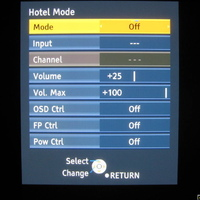 Hotel Mode Menu on my G10