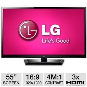 LG 55 inch LED 3D TV w/ Soundbar - 55LM4700