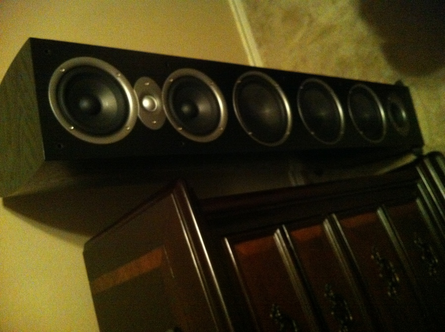 One of my speakers with its grill off