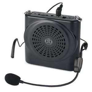 DBTech 15w Portable Voice Amplifier with Waist/Neck Band Strap and Belt Clip - Great for Teachers, Tour Guides, Shows, Presntations Etc. - Rechareable Lithium Battery