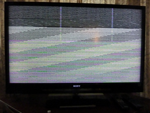 KDL-46Z4100 colored lines problem - AVS Forum | Home Theater