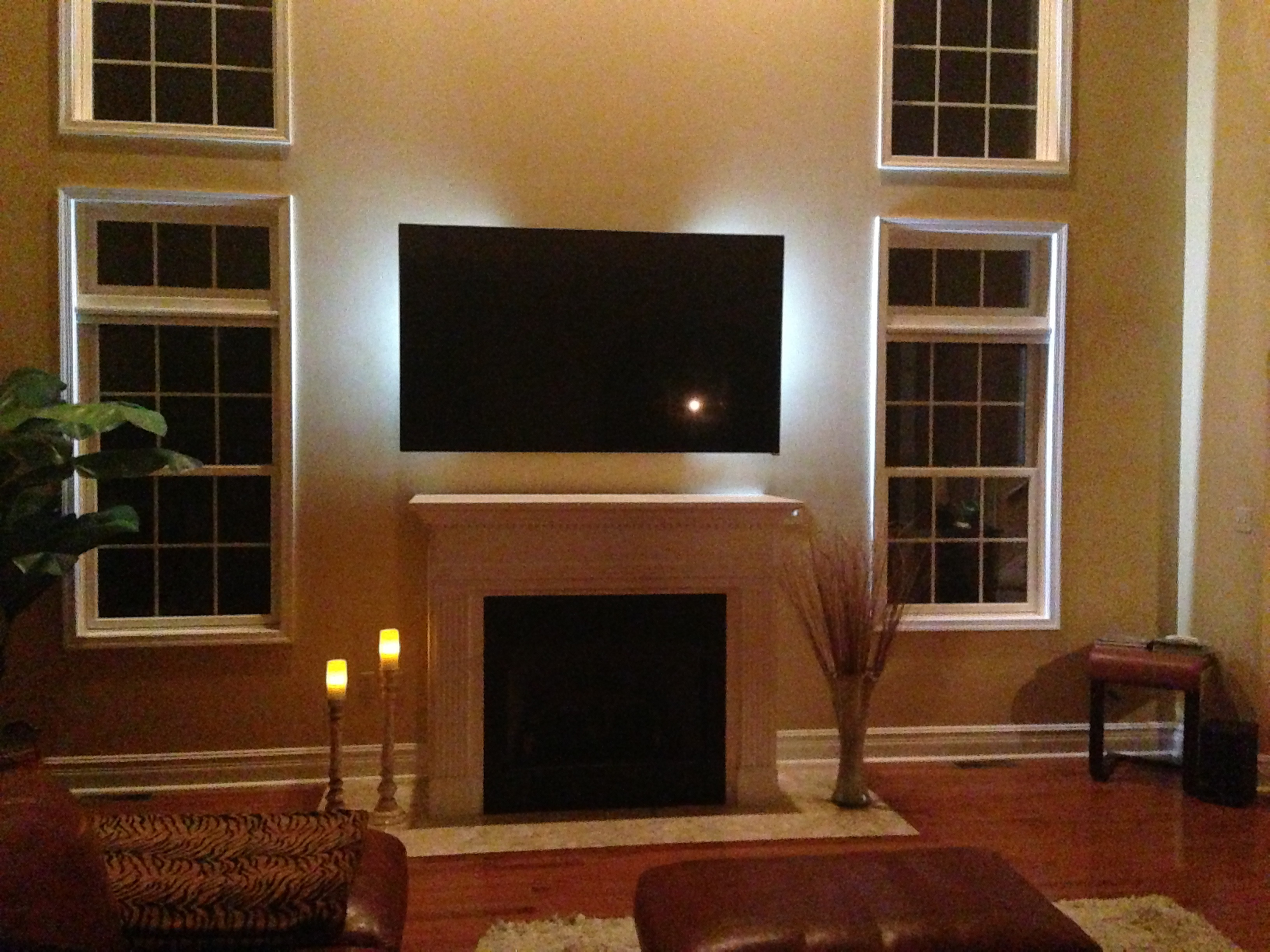 Tv Fireplace Where To Put Cable Box Great Ways To Hide