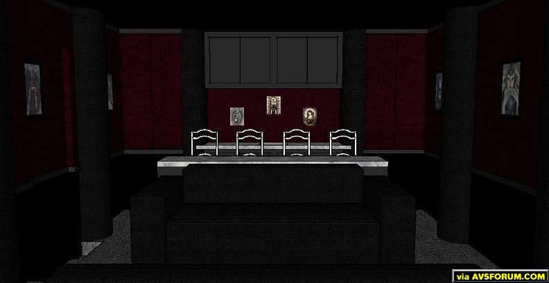 View of planned bar and rear seating area.