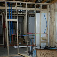 New Plumbing for Full Bath