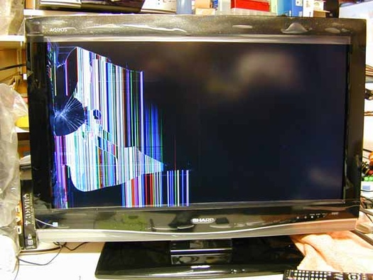 Possible To Fix Lcd Tv With Damaged Screen Avs Forum