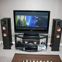 "Denon 2809ci, Pioneer 5020, Klipsch RF-82, RC-62, RB-61, RW-10, Paragdigm 8"" sub, Xbox 360, PS3, Monster 1800 powercenter"