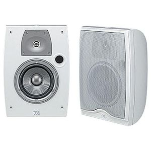 "JBL Northridge N24AWII 2-Way, 4"" Weather-Resistant Bookshelf Speakers with Brackets - Off White (Pair)"