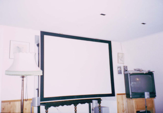 DIY Ceiling mounted Fold-down Screen - AVS Forum | Home Theater ...