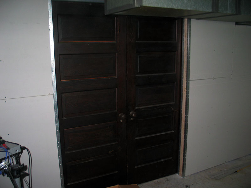 The old doors I had in my attic that match the rest of the house.