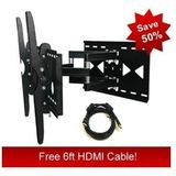 "Sony Bravia 32"" 36"" 67"" 40"" 42"" 46"" 50"" 52"" 55"" LCD Compatible Articulating Tv Wall Mount Bracket & Free HDMI Cable"