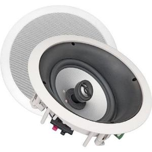 "NXG Technology NX-C80LCR 8"" 100-Watt Home Theater 2-Way LCR In-Ceiling Speaker System With Tilt-Swivel Tweeter Island"
