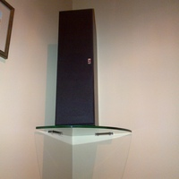Floating Corner Glass Shelves for Surround Speakers