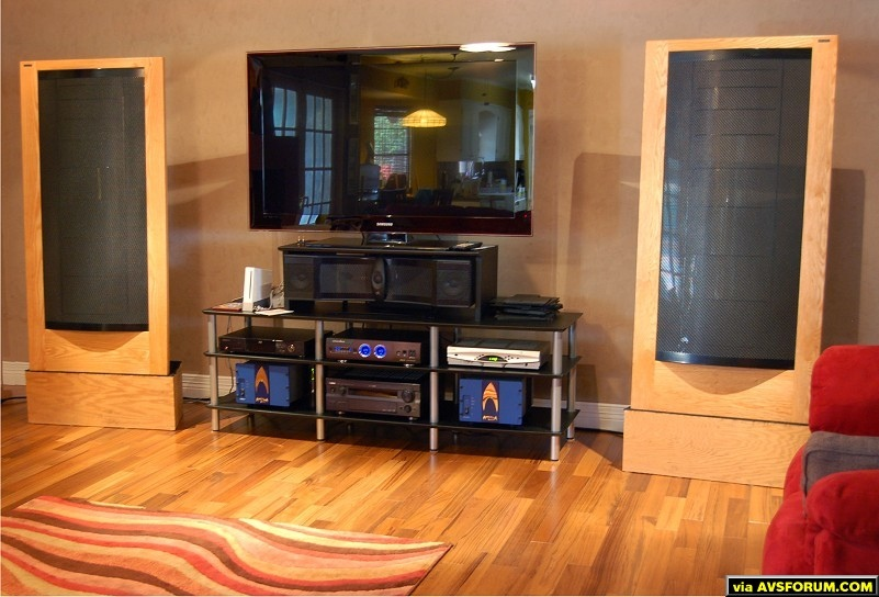 Martin Logan, Samsung, Oppo, Onkyo and Ampzilla 2000 home theater.