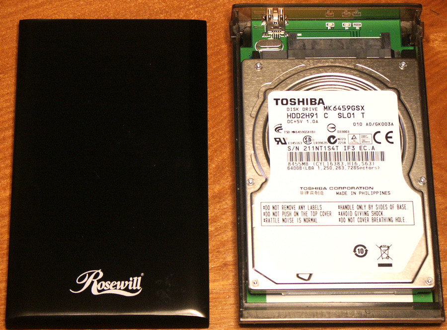 rosewill enclosure & toshiba hdd.JPG
