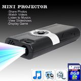 NEW! PP003(with 8GB Card) Portable POCKET PROJECTOR