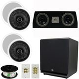 "5.1 Home Audio Speakers 4 Speakers, 1 Center, 15"" Powered Sub and More TS50CC51SET9"