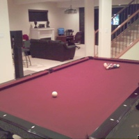 9X6 Pool table as part of the entertainment area. Adding a ping pong table conversion top to add onto it.