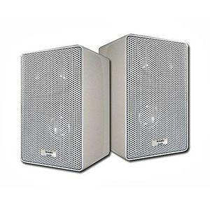 Acoustic Audio 251W 400 Watt Pair White 3-Way Indoor/Outdoor Speakers
