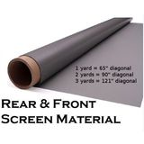 121&quot; Diagonal Rear Projection Material Rear Projection Screen (108&quot; x 55&quot;)