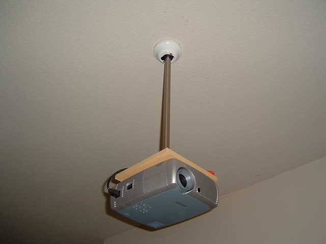 DIY Projector ceiling mount - $8 - AVS Forum : Home Theater Discussions And Reviews