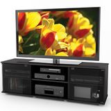Sonax E-0062-BF Fiji 60-Inch TV Component Bench, Ravenwood Black
