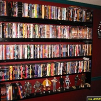 We Built this DVD rack for the Rear wall of the Theater. It's finished in what else ? Black Lacquer.