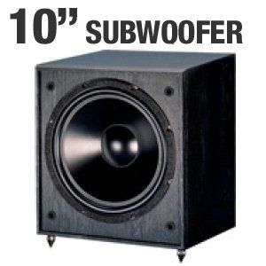 Pinnacle Speakers Digital Sub 100 10-Inch 100 Watt Front Firing Powered Subwoofer (Black)