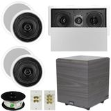 "5.1 Home Audio Speakers 4 Speakers, 1 Center, 10"" Powered Sub and More TS50CL51SET4"