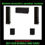 2 Boston acoustics CS 260 II Floorstanding Loudspeaker and 2 Boston acoustics CS 23 II Bookshelf Loudspeaker and Boston acoustics CS 225C II Center Channel Loudspeaker