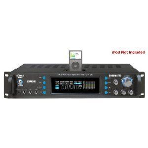 Pyle P3002AI 3000 Watts Hybrid Receiver and Pre-Amplifier with AM-FM Tuner/iPod Docking Station