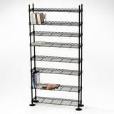 Atlantic Maxsteel 3020 432 CD/228 DVD/114 VHS/ 8-Tier Media Rack (Black)