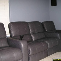 Our four Berkline Home Theater Chairs - very comfy!