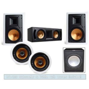 Klipsch R-5800-W In Wall System (RC-62II Center-FREE SUB)