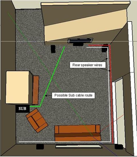 which type speaker wire to run under carpet avs forum home rh avsforum com run wiring in house running wire from house to shed