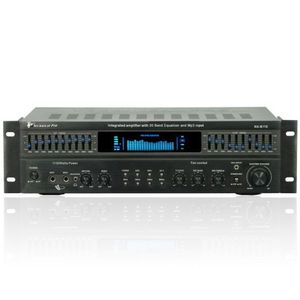Technical Pro RXB113 Receiver, Integrated 1500 Watt Amplifier with 20 Band Equalizer, Black