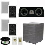 "5.1 Home Audio Speakers 4 Speakers, 1 Center, 8"" Powered Sub and More TS50WC51SET2"