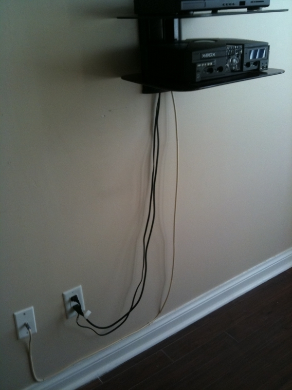 Hiding Coax Power Cables Running On The Wall Pic Avs