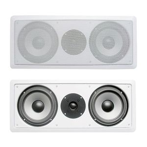 Acoustic Audio Dual 6.5 inch LCR In-Wall Center Channel Speaker - CS-IW26CC