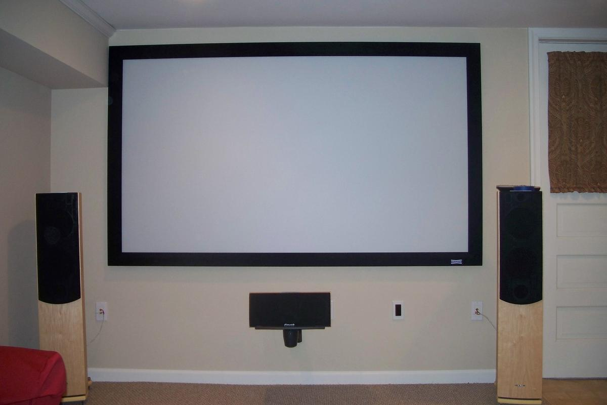 False Wall Designs For Tv : At screen or fabric on false wall avs forum home