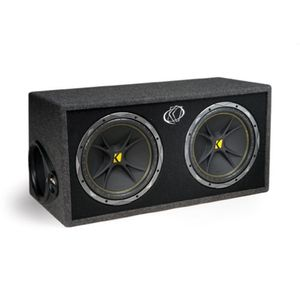 Kicker 07DC122 Dual Comp 12-Inch 2-Ohm Subwoofers In Vented Box