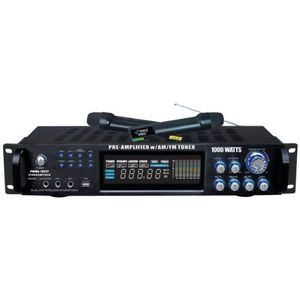 PYLE PRO PWMA1003T 1,000-Watt Hybrid Pre-Amplifier and Wireless Microphone System