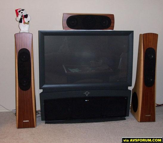 This is a huge difference in size compared to my older system. The speakers are flat to 16 Hz on every channel, though and I am running a 7.5 system with distributed LFE and L/R subs.