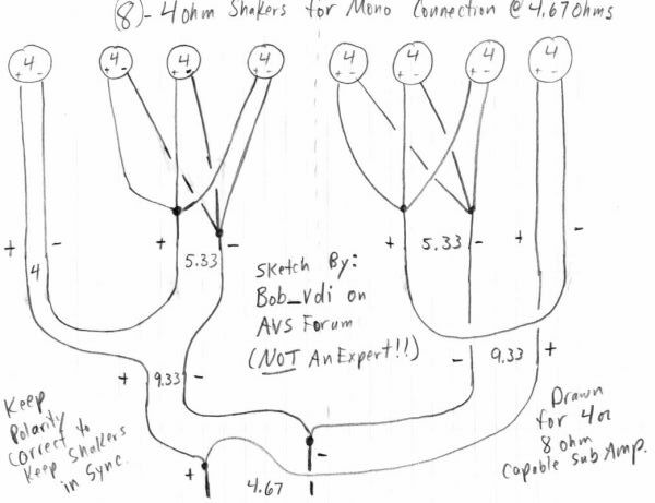 shaker wiring avs forum home theater discussions and reviews on different ohms wiring diagrams