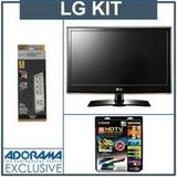 LG 22LV2500 22 inch Class LED LCD TV,1366 x 768 with Accessory Kit (2 HDMI Cables, 1 RGB Cable, 1 Audio Cable, Plasma / LCD Cleaning Kit, Belkin 6-Outlet Surge Protector)